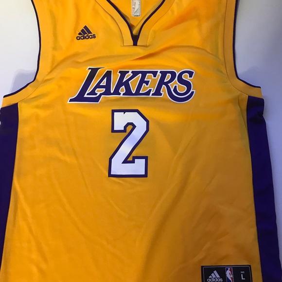 3ac3e78a52e adidas Shirts | Lonzo Ball La Lakers 2 Gold Jersey Large | Poshmark